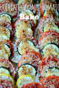 Zucchini Squash Tomato Bake