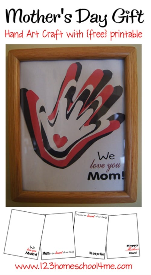Mother's Day Handprint Crafts for Kids