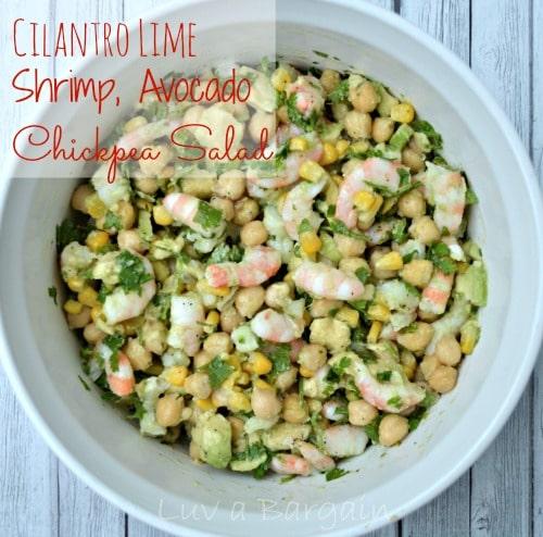 Cilantro Lime Shrimp, Avocado, Chickpea Salad1