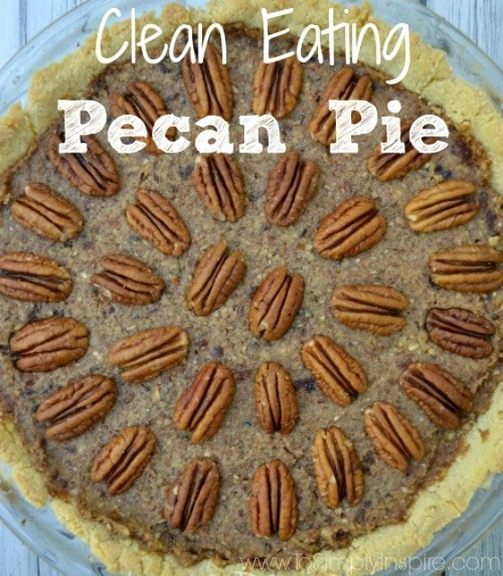 Who loves this favorite holiday pie but not all the corn syrup and sugar? This clean eating Pecan Pie is packed with delicious healthy swaps.