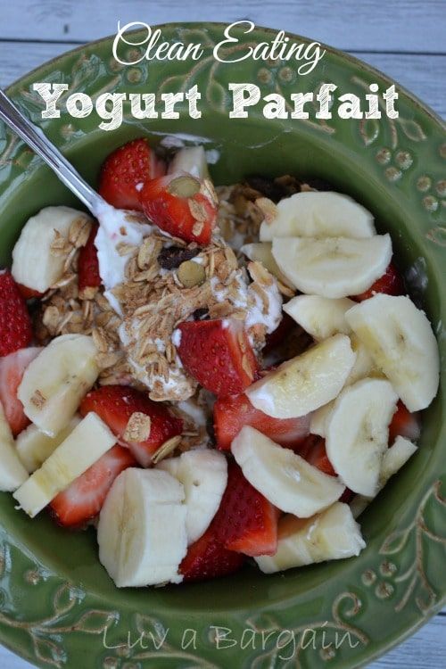Clean Eating Yogurt Parfait