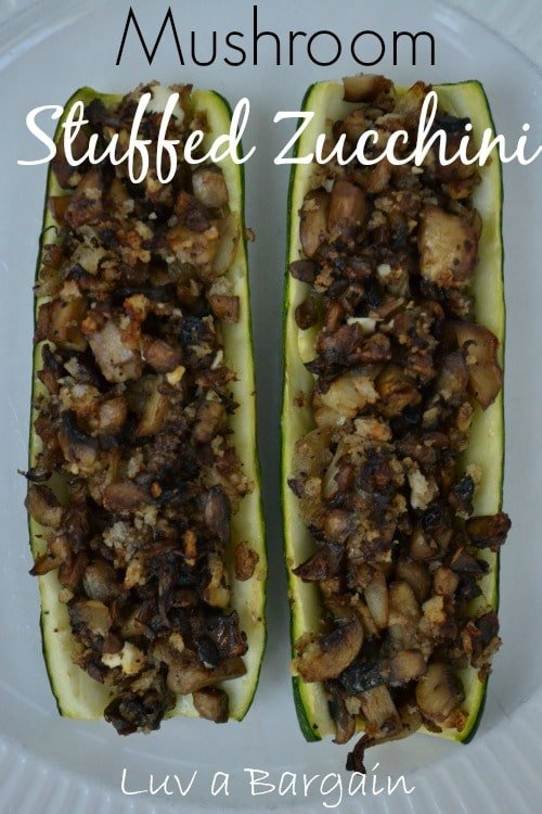 Mushroom Stuffed Zucchini1