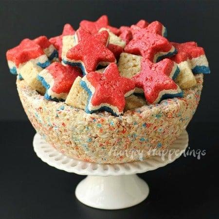 Patriotic-rice-krispies-treat-bowl-and-stars