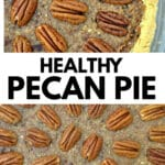pecan pie with pecan halves arranged on top