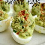 Deviled Avocado Eggs are an amazing healthy alternative to traditional deviled eggs. | www.ToSimplyInspire.com #avocadoeggs