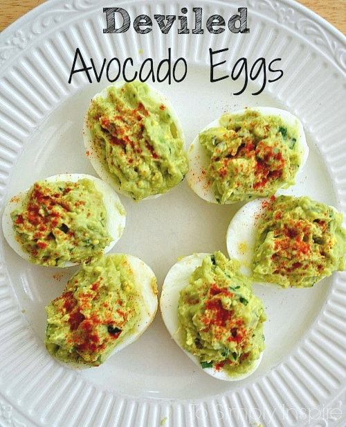 These deviled avocado eggs are an amazing healthy alternative to traditional deviled eggs.