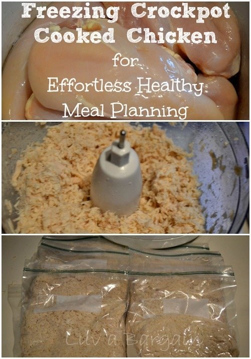 Freezing Crockpot Cooked Chicken for Effortless Healthy Meal Planning