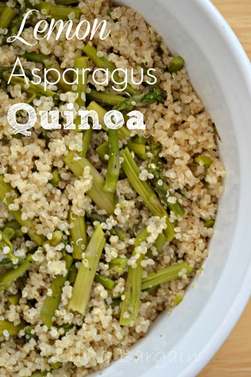 Lemon Asparagus Quinoa Recipe