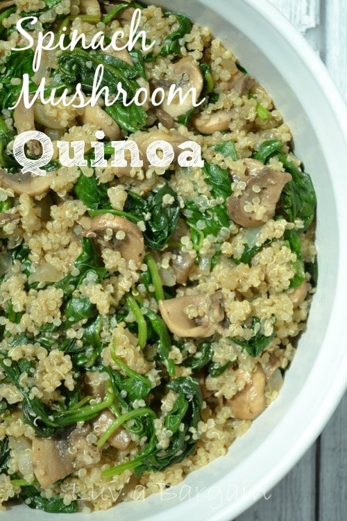 Spinach Mushroom Quinoa