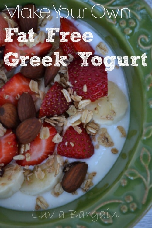 How to Make Fat Free Greek Yogurt