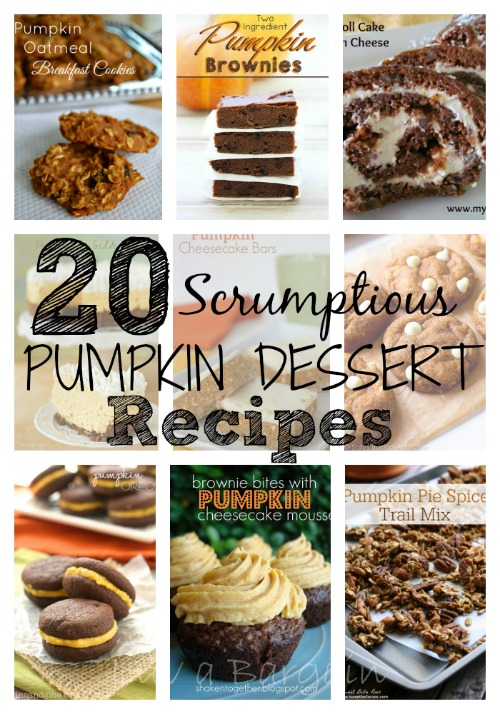20 Scrumptious Pumpkin Dessert Recipes