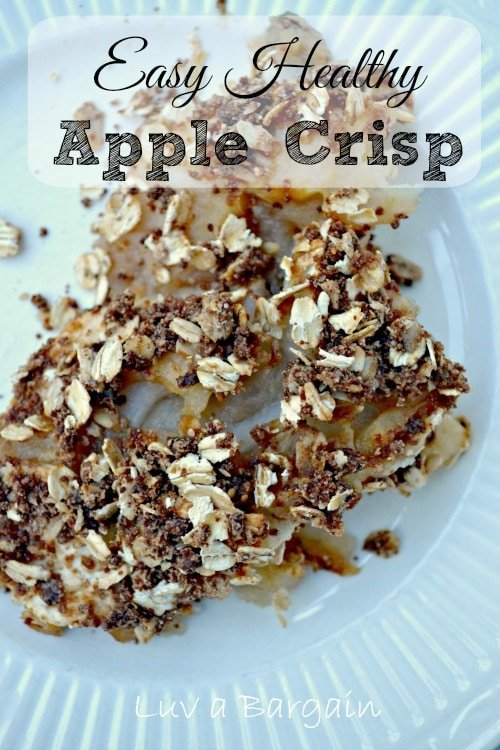 Easy Healthy Apple Crisp
