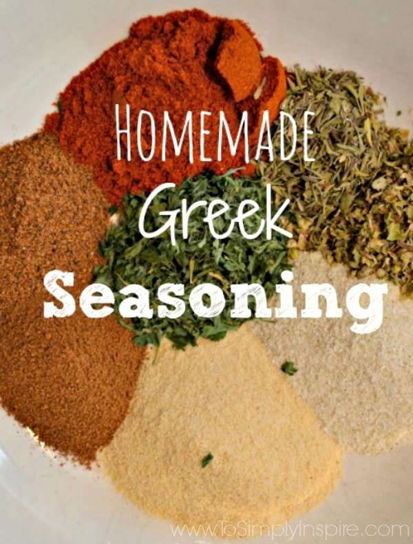 This Homemade Greek Seasoning is wonderful to use on chicken, either baked or in the slow cooker.
