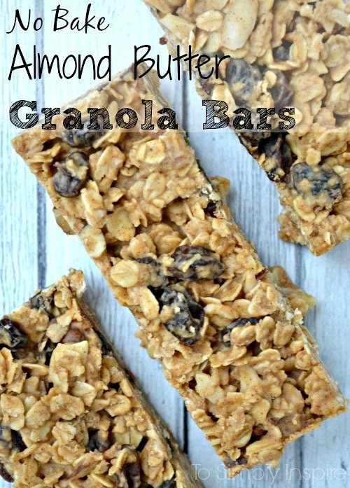 No-Bake-Almond-Butter-Granola-Bars