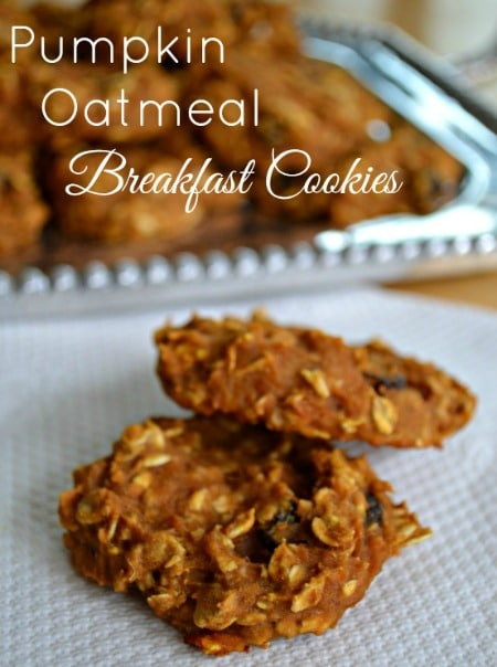 Pumpkin Oatmeal Breakfast Cookies