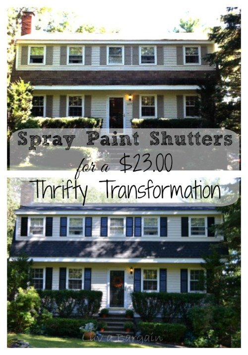 Spray Paint Shutters for a Thrifty Transformation