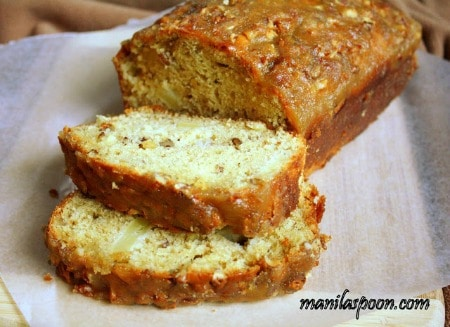 apples praline bread