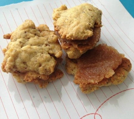 vegan apple butter cookies