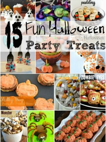 A bunch of different halloween treats and desserts