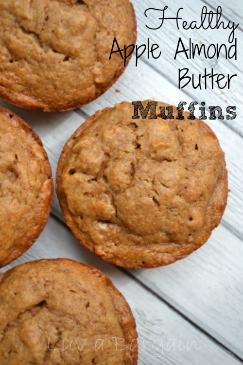 Healthy Apple Almond Butter Muffins1