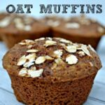 molasses muffin topped with oats