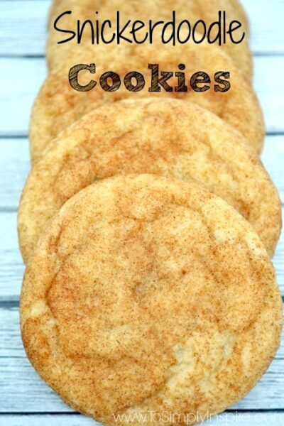 snickerdoodle cookies stacked on each other.