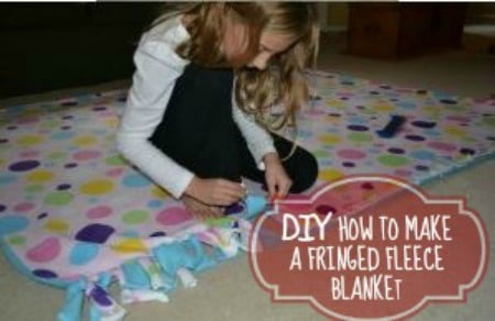 how-to-make-a-fringed-fleece-blanket