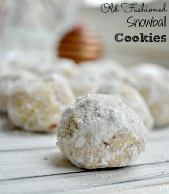 closeup of Snowball Cookie