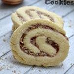 Raspberry Pecan Pinwheel Cookies