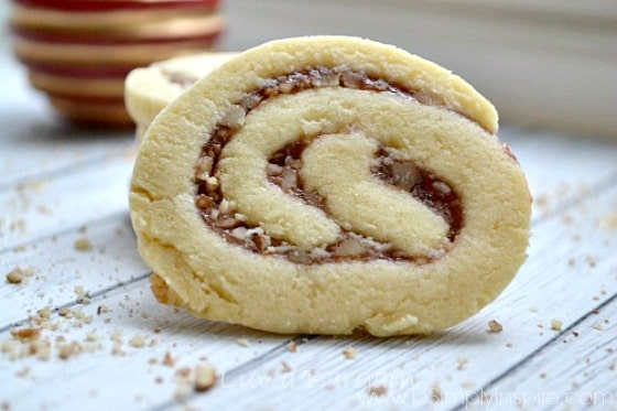 These Raspberry Pecan Pinwheel Cookies are very easy to make. Two added ingredients turn a sugar cookie into a more gourmet looking treat.