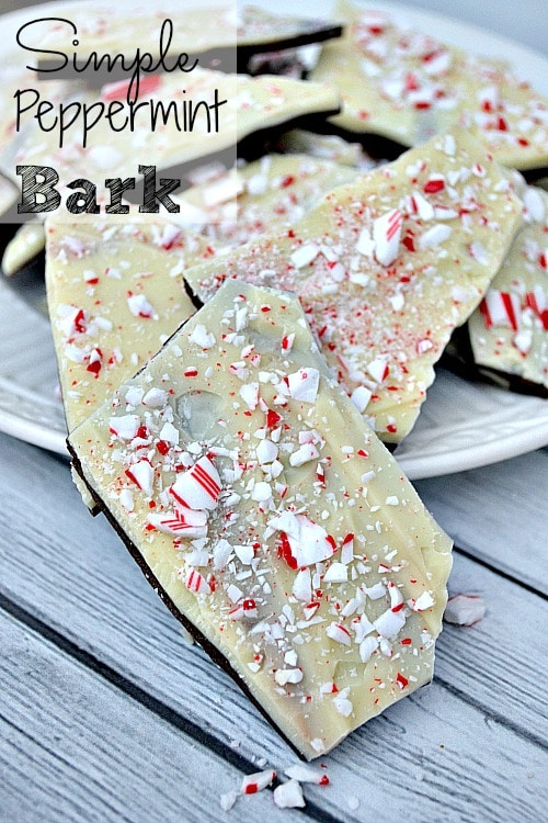 Simple Peppermint Bark