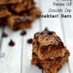 Healthy Banana Oat Chocolate Chip Breakfast Bars