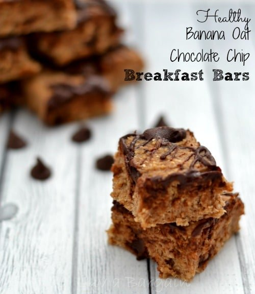 Healthy Banana Oat Chocolate Chip Breakfast Bars