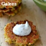 Thumbnail image for Healthy Quinoa Cakes {with Optional Yogurt Dill Sauce}