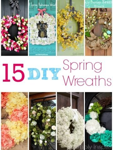 A bunch of different types Spring Wreaths