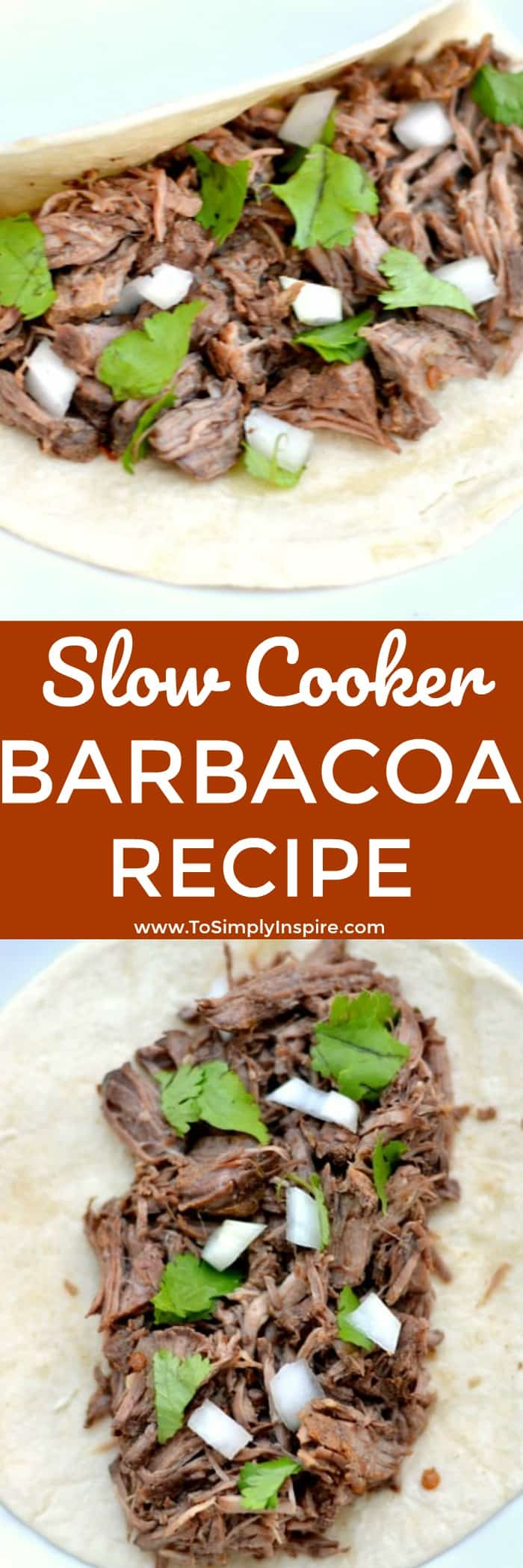 This authentic barbacoa recipe is a simple slow cooker meal that makes the most tender, flavorful, delicious barbacoa beef.