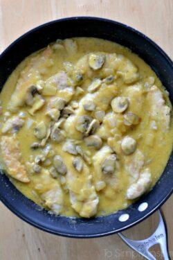 Honey Mustard Chicken with Mushrooms