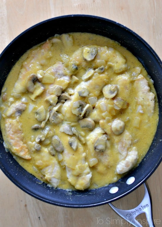 Honey Mustard Chicken with Mushrooms