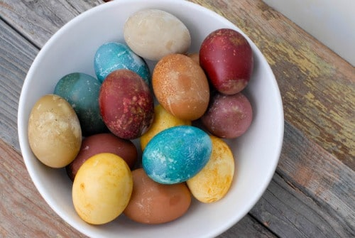 natural color Easter Eggs