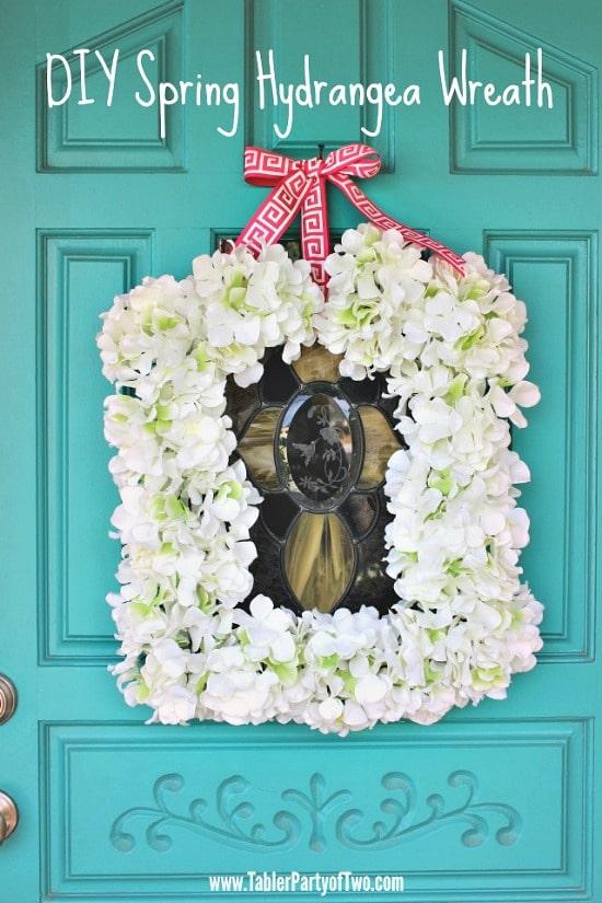 sping hydrangea wreath