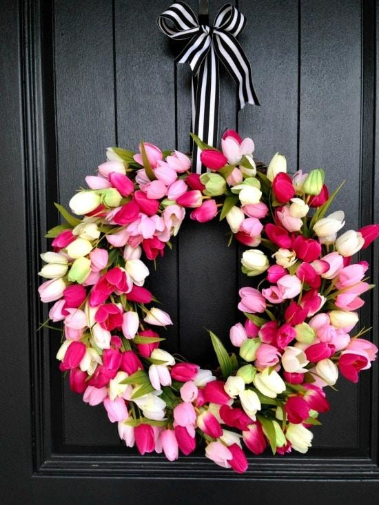 spring tulip wreath