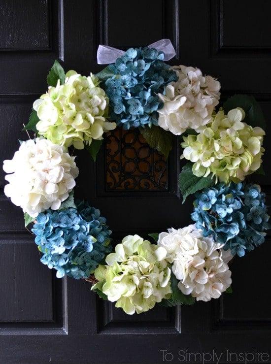 DIY Hydrangea Wreath [To Simply Inspire]