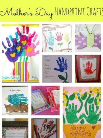 Several different types of handprint art