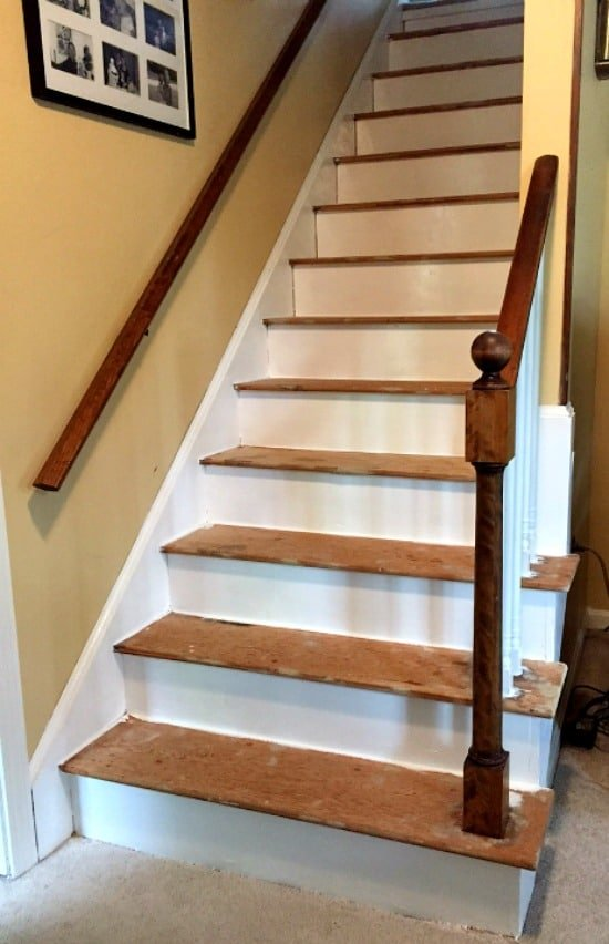 Remove Carpet From Stairs And Paint Them