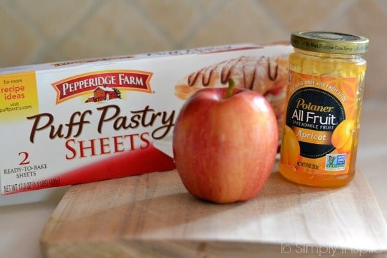 Apple Rose Puffed Pastries Ingredients