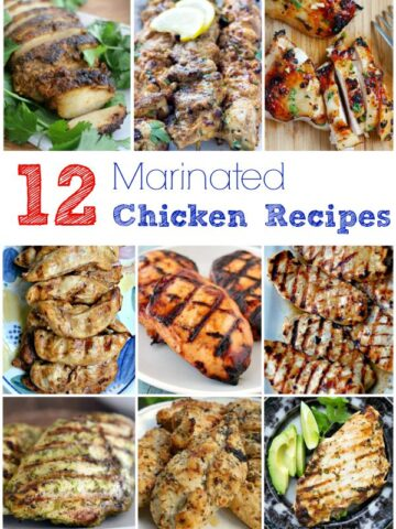 A bunch of different types of marinated Chicken recipes