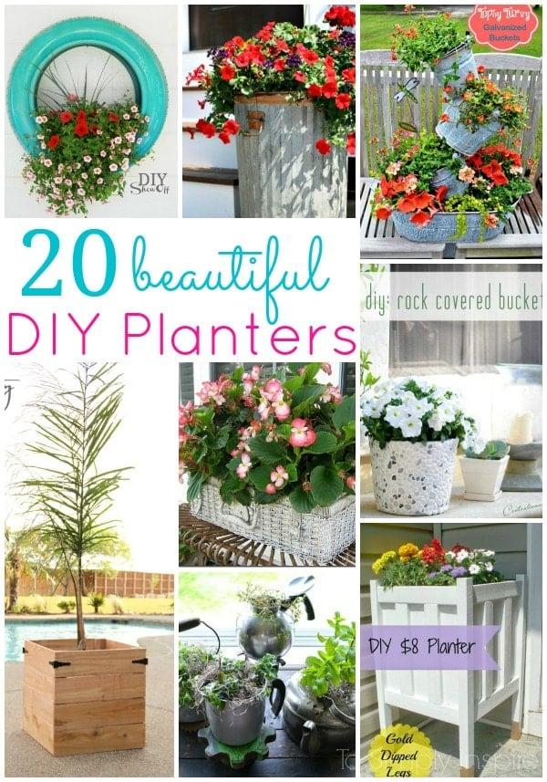 20 beautiful diy planters for Beautiful planters