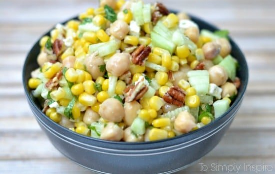 Chickpea Corn Salad