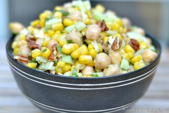 Chickpea Corn Salad3