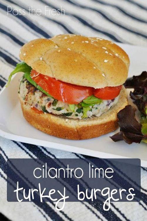 Cilantro Lime Turkey Burgers